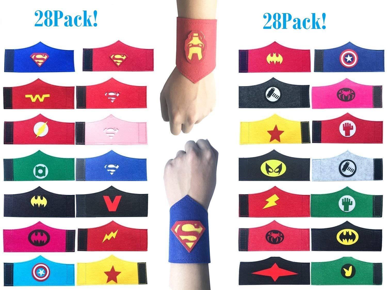 Okk Super Heros Braclets for Kids Boys & Girls Birthday Party Supplies-28pack