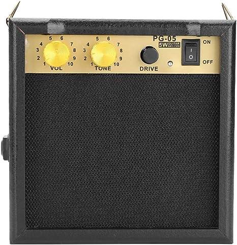 Fafeims Altavoz de Guitarra, PG-05 5W DC 9V Amplificador ...