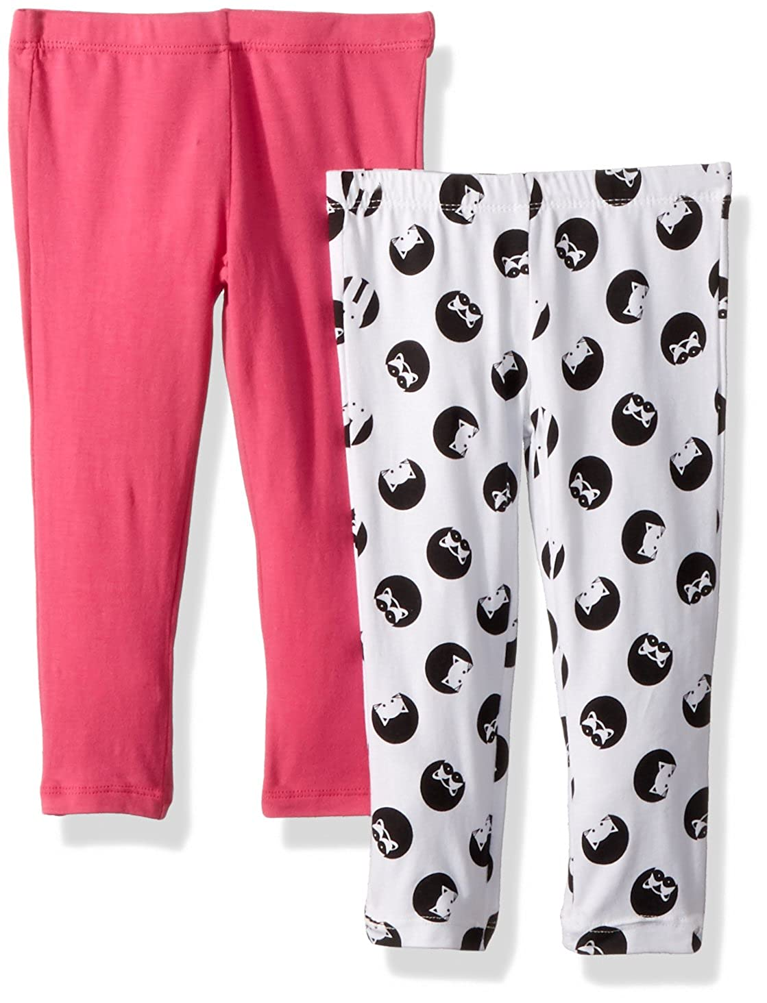 c98aee4818e Amazon.com  Flapdoodles 2 Pack Girls Printed and Solid Legging  Clothing