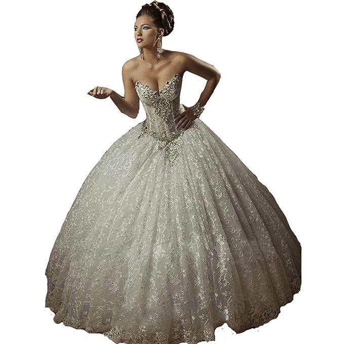 Gothic Wedding Dress.Snowviews Ball Gown Corset Gothic Wedding Dress Lace Bridal Gowns