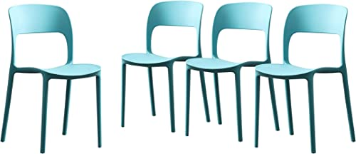 Christopher Knight Home 306520 Dean Outdoor Plastic Chairs Set of 4 , Teal