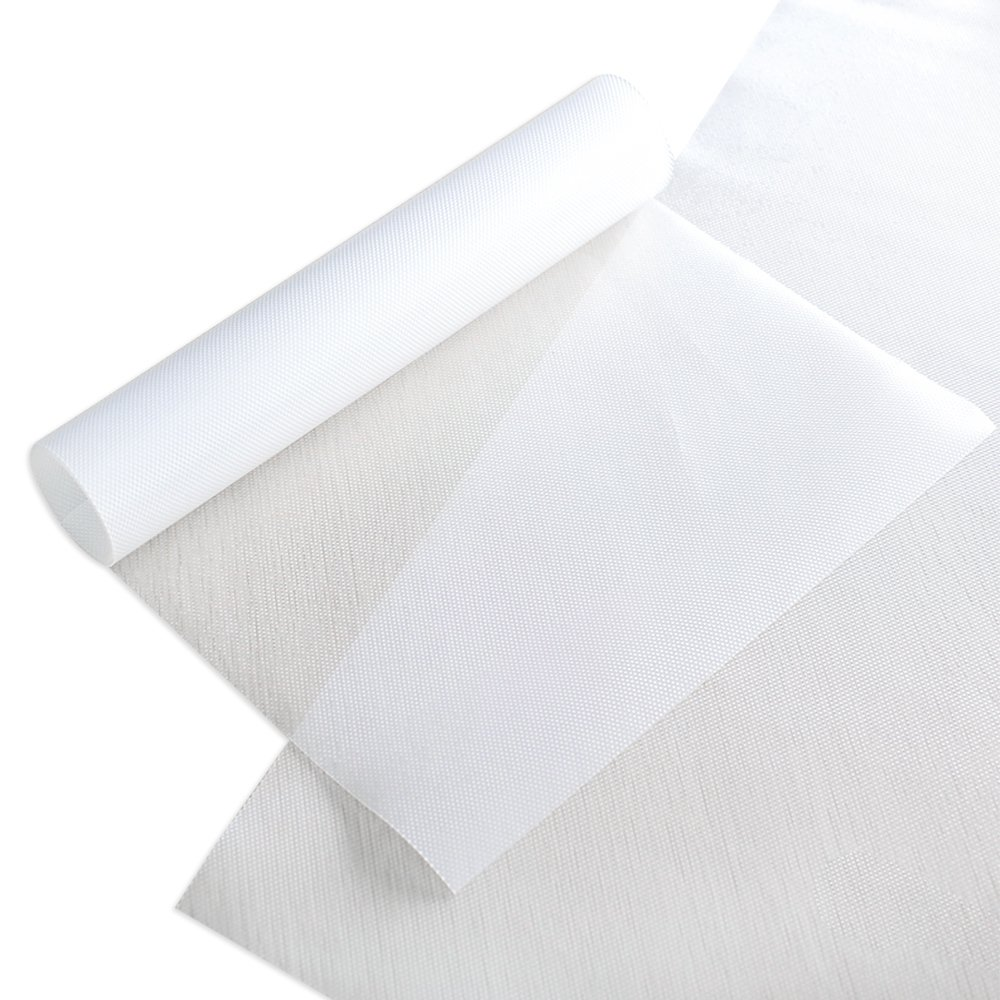 Ya Jin 2 Roll Matte Grain Pads Antibacterial Moisture Absorption Non-Slip Fridge Shelves Drawer Table Mats
