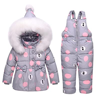 4d85edd54 Amazon.com  Acereima Children Warm Toddler Snowsuit Outerwear  Clothing