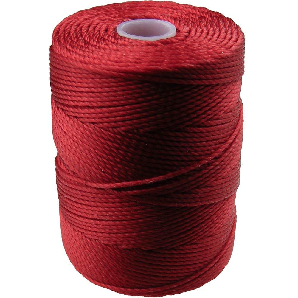 C-LON Bead Cord, Shanghai Red - 0.5mm, 92 Yard Spool 4336807710
