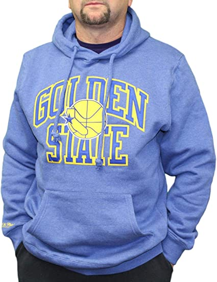 Mitchell /& Ness Playoff Win Hoody Golden State Warriors Grey