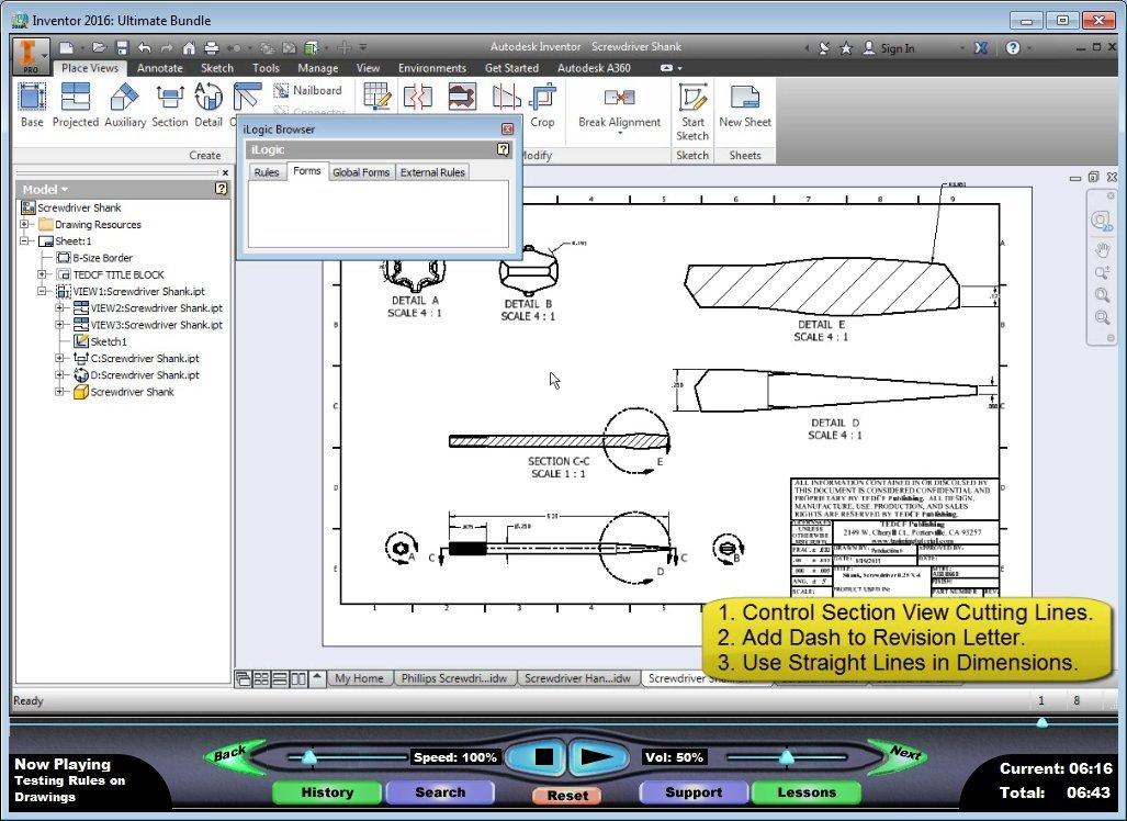 Amazon com: Autodesk Inventor 2015 Training Tutorial