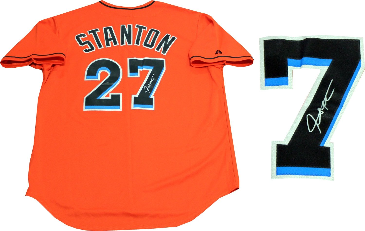 purchase cheap bbdb5 39a72 Giancarlo Stanton Autographed Miami Marlins Jersey at ...
