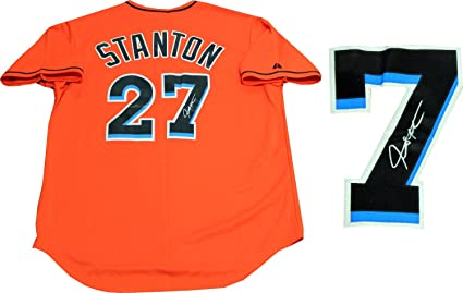 purchase cheap d4a8f d585f Giancarlo Stanton Autographed Miami Marlins Jersey at ...