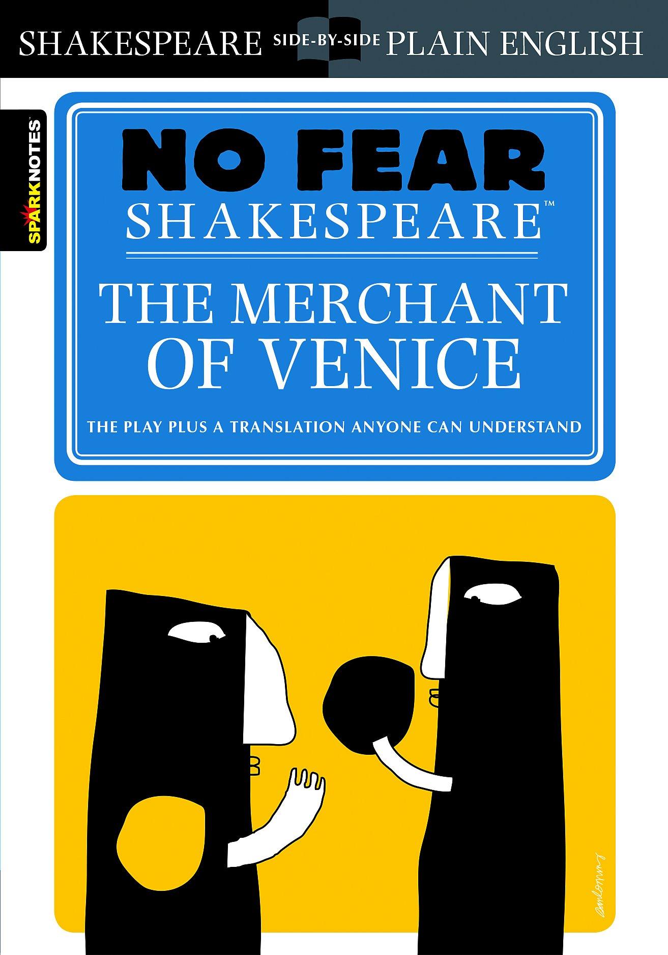Amazon Com Merchant Of Venice No Fear Shakespeare Ebook Sparknote Kindle Store Hamlet Act 1 Scene