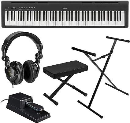 Kawai ES110 Piano digital portátil de 88 teclas, elegante negro – Paquete con soporte de teclado en etapa KPK6520 con pedal de sostenimiento, ...