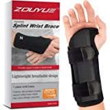 Carpal Tunnel Wrist Brace, Night Sleep Wrist Support, Removable Metal Wrist Splint for Men, Women, Tendinitis, Bowling, Sport