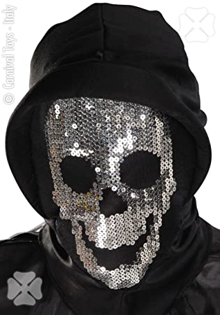 Máscara calavera de tela c/Cap Accesorios para Carnaval