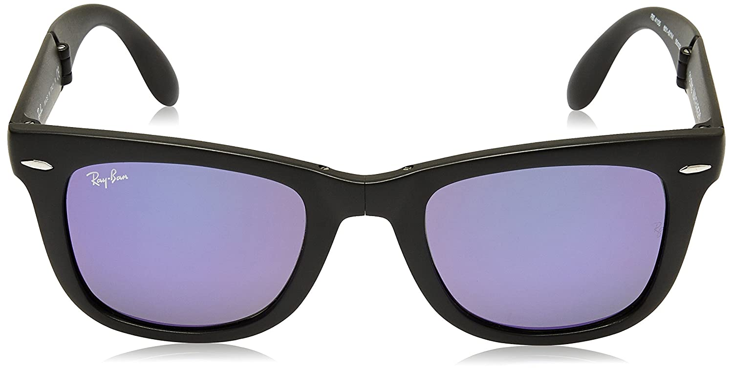 8b1d7568f98 Ray-Ban Mirrored Square Men s Sunglasses (0RB4105601S4K50 Grey)  Amazon.in   Clothing   Accessories