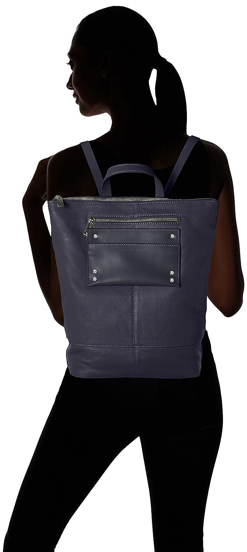 Kärlekskinn Berlin dam ryggsäck fritid ryggsäck handväska, 11 x 48 x 36 cm marinblå