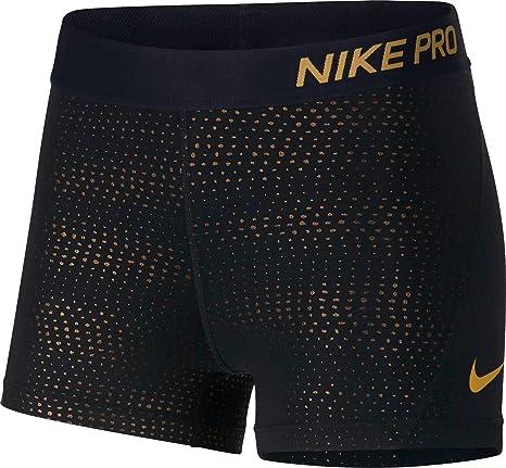 d7346208d1 Amazon.com   NIKE Women s Pro 3   Metallic Dot Shorts (Black