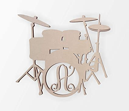 Amazon Com Ruskin352 Wooden Drum Set Monogram Wooden Letter For