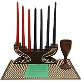 amazon com kwanzaa mask candleholder celebration set made in