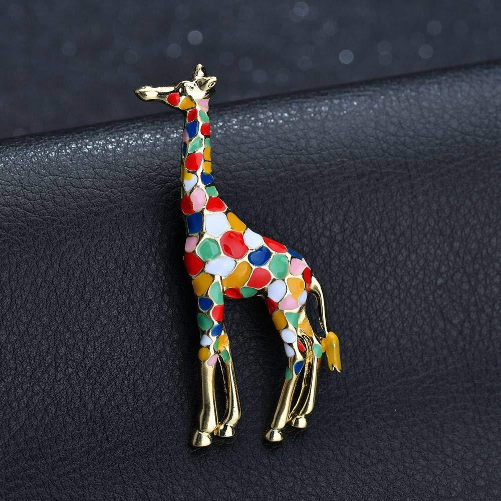 Animal Mignon de Girafe /émail Broche Spotted Broche Bijoux AILUOR Broche Girafe
