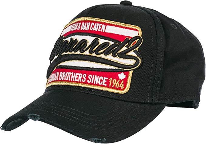 Dsquared2 Cappello Baseball Canadian Brothers Uomo Nero