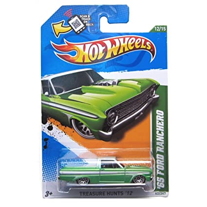 Hot Wheels 2012 '65 Ford Ranchero Car in Pearl Green Treasure Hunts 62
