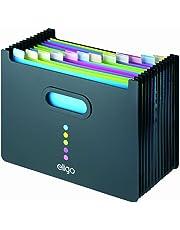 Eligo - Archivador tipo acordeón (13 compartimentos, DIN A4, formato horizontal),