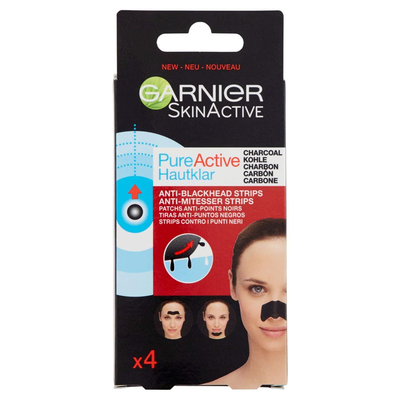 Garnier Skincare Strip Contro i Punti Neri Ostinati, Formula Arricchita con Carbone Vegetale, Efficace in Soli 15 minuti 3600542154666