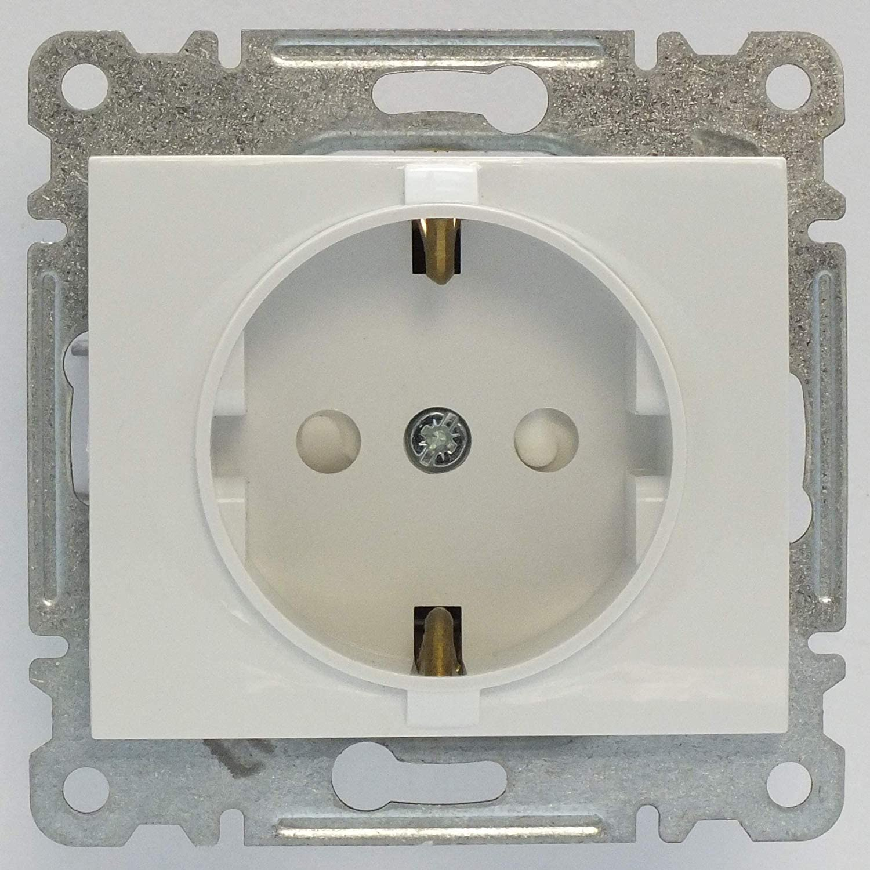 VDE Zertifiziert Defne Klingeltaster mit Label Unterputz mit Steckklemme in wei/ß