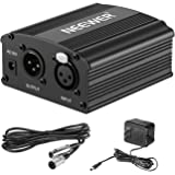 Neewer 1-Channel 48V Phantom Power Supply with Adapter, BONUS+XLR 3 Pin Microphone Cable for Any Condenser Microphone…