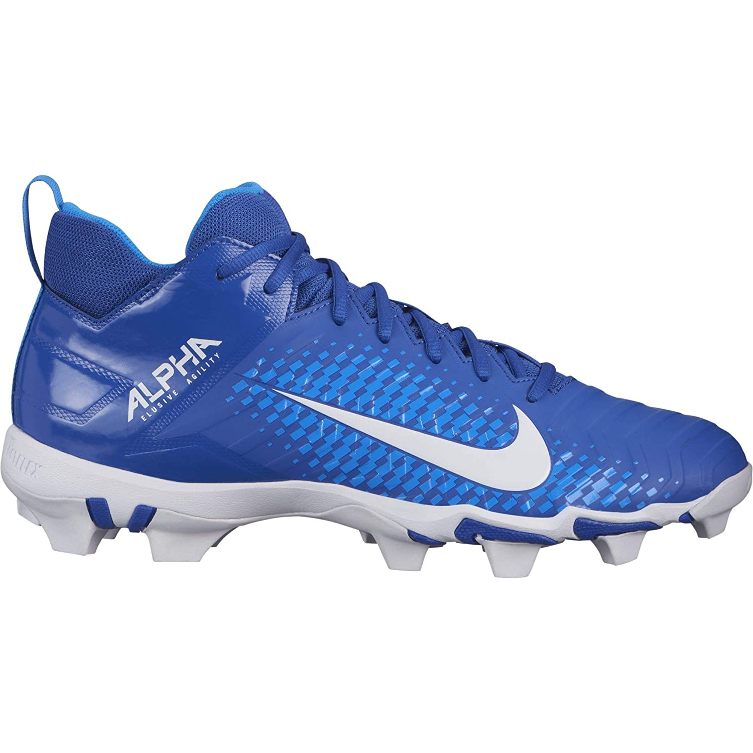Nike Men's Alpha Menace 2 Shark Football Cleat Game Royal/白い/Photo 青 Size 9.5 M US