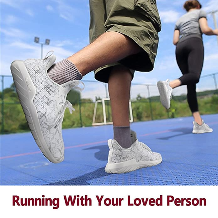 Soulsfeng Zapatos Deportivos Zapatillas Zapatos de Hombres para Mujer Calzado Deportivo Zapatos Planos Zapatos Con Cordones(gris 45EU) Mh1Zvg