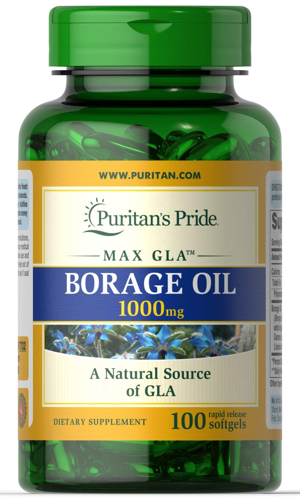 Puritans Pride Borage Oil, 1 Gram by Puritan's Pride