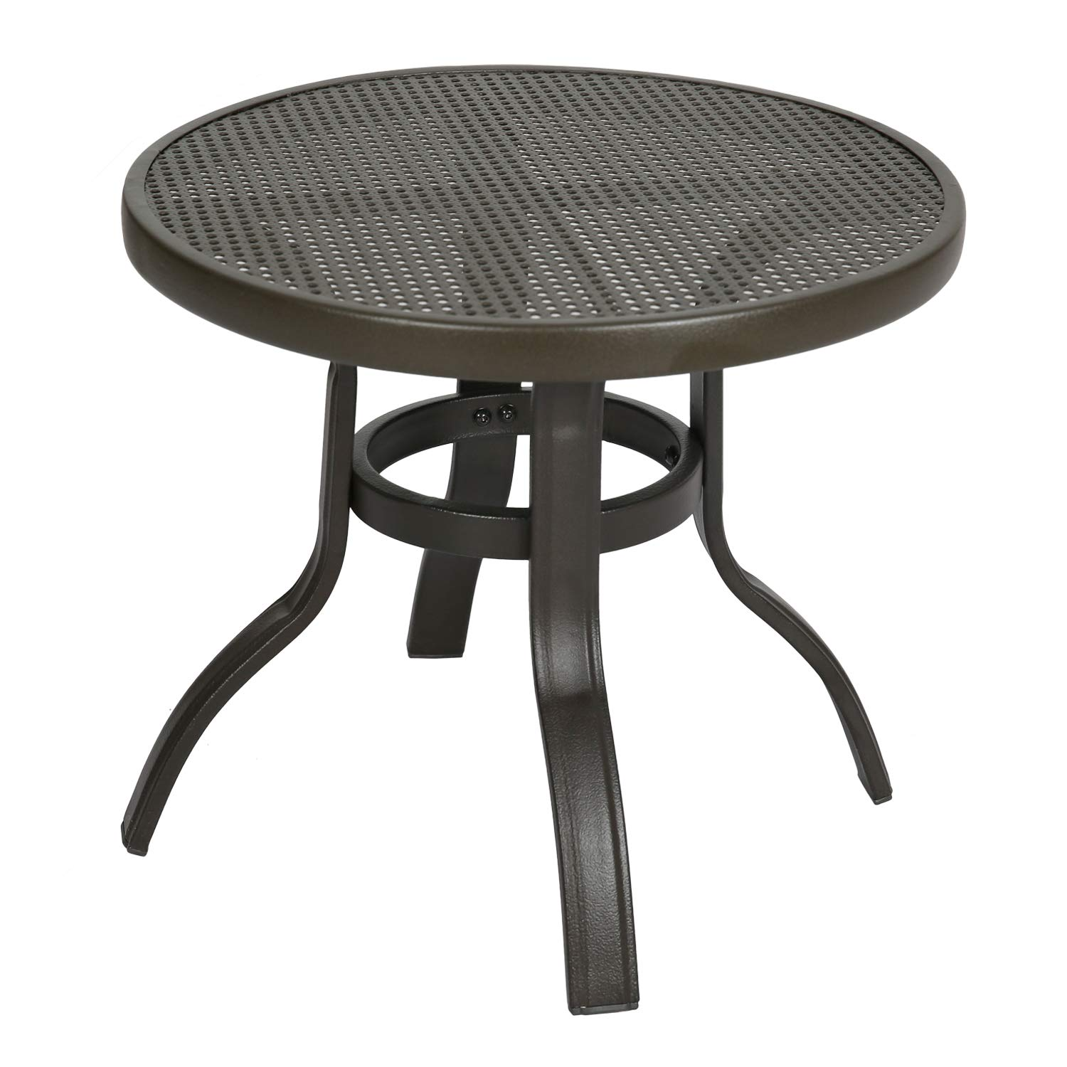 Ulax Furniture 3 Piece Outdoor Wicker Set Patio Conversation Bistro Set with Chairs and Side Table