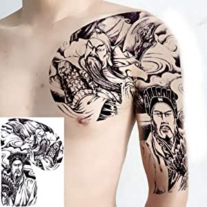 Handaxian 3pcs Tatuaje Hombres Hombro Tatuaje Pecho Grande Cuerpo ...