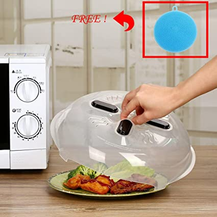 amazon com magnetic microwave splatter cover food splatter guard