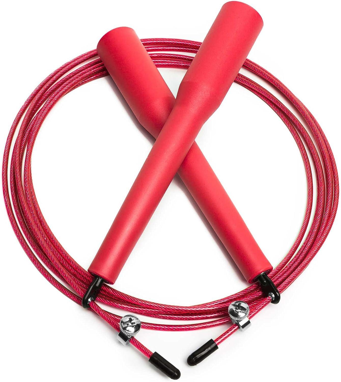 Speed Rope Seilspringen MMA Boxen Intervalltraining HIIT Ausdauer /& Abnehmen Springseil mit 360/° Kugelgelenk mit verstellbarem Drahtseil f/ür Fitness