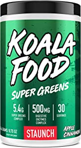 Staunch Koala Food Super Greens (30 Servings) - Apple Cinnamon (Apple Cinnamon)