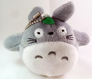 Totoro con Hoja Peluche Llavero – keyholder Plush Keychain – El Mi Vecino Totoro