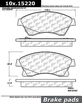 Disc Brake Pad Set Front Centric 105.15220