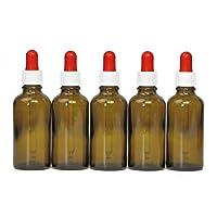 Octopus Braunglasflaschen mit Fingerzerstäuber, Mini-Trichter + Beschriftungsetiketten, Sprühflaschen mit UV-Lichtschutz, Zerstäuberflaschen mit Pumpsprüher, z.B. für kolloidales Silber Oder Parfüm