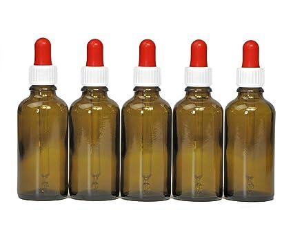 Octopus - 5 botellas (cristal de ámbar) con pipeta de 50 ml.