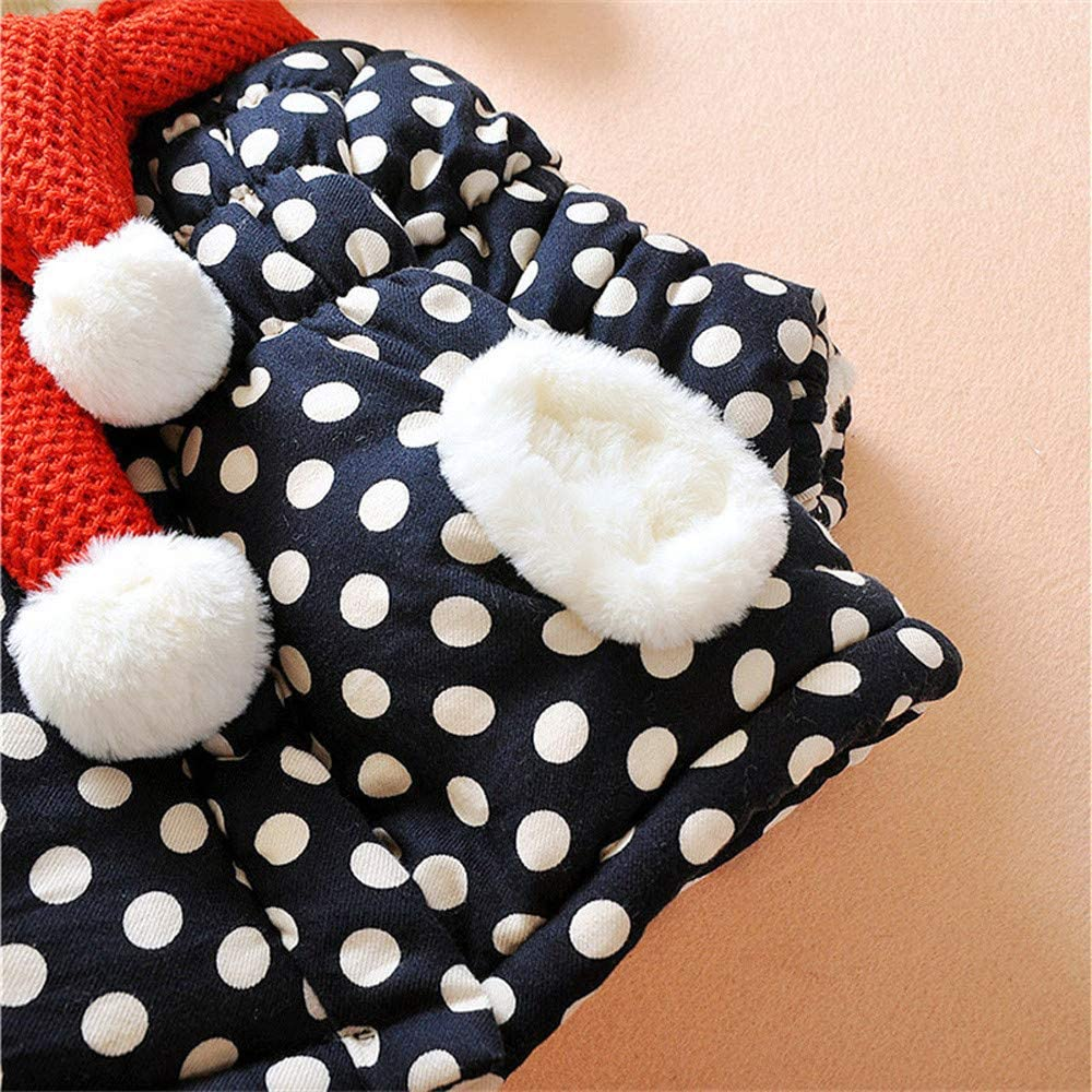 FORESTIME Baby Girls Outerwear,Winter Cartoon Rabbit Ear Hooded Coat Cloak Thick Plush Outerwear with Scarf
