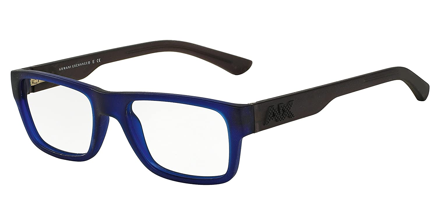 05bb4b930add3 Armani Exchange Men s Eyewear Frames AX 3015 52mm Matte Marine Transparent  8025  Amazon.co.uk  Clothing