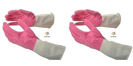 SAFEYURA® Gardening Rubber Hand Gloves Reusable Garden Gloves- 2 Pairs