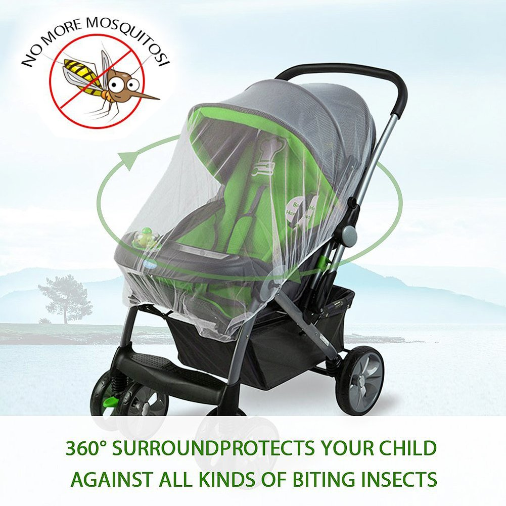 Carrycot Buggy Baby Mosquito Net Universal Insect Net for Prams Travel Cot and Stroller Hook Set VOOA Pushchair