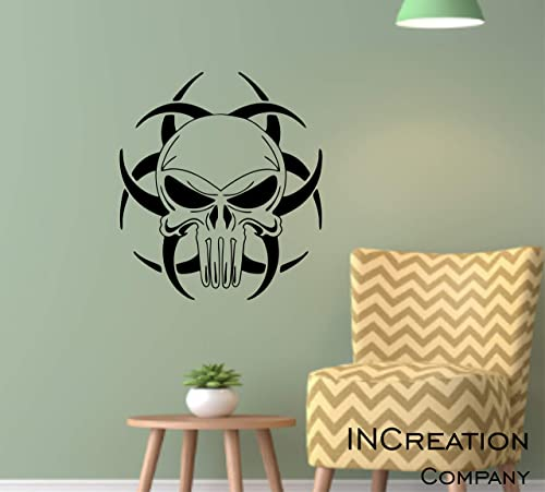 Various Sizes Punisher Skull Coyote Color Decal Outdoor//Indoor Decal