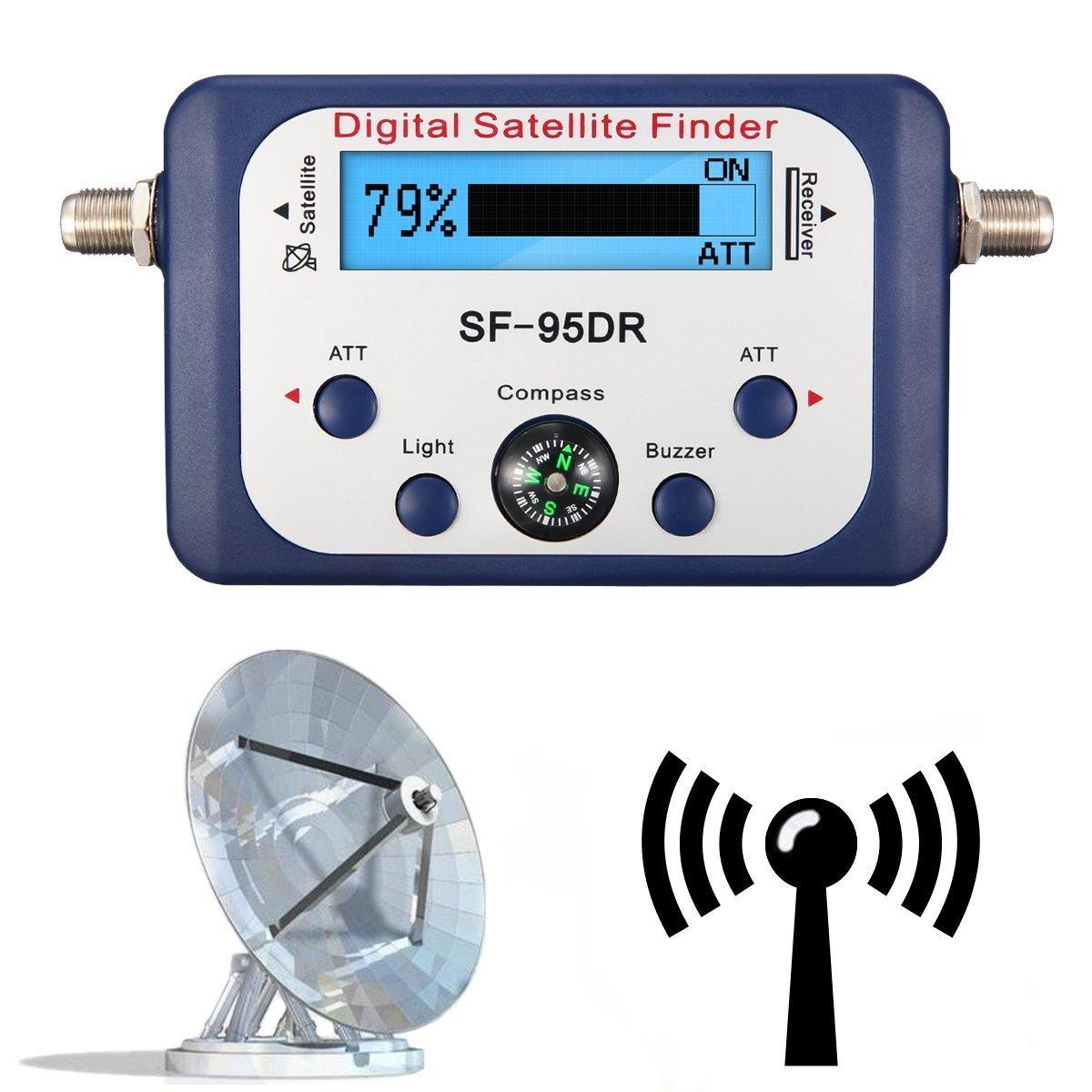 ELEGIANT Buscador Satélites Digital Localizador Conexión F Señal Detector TVHD + Iluminada Brújula SATFINDER: Amazon.es: Electrónica