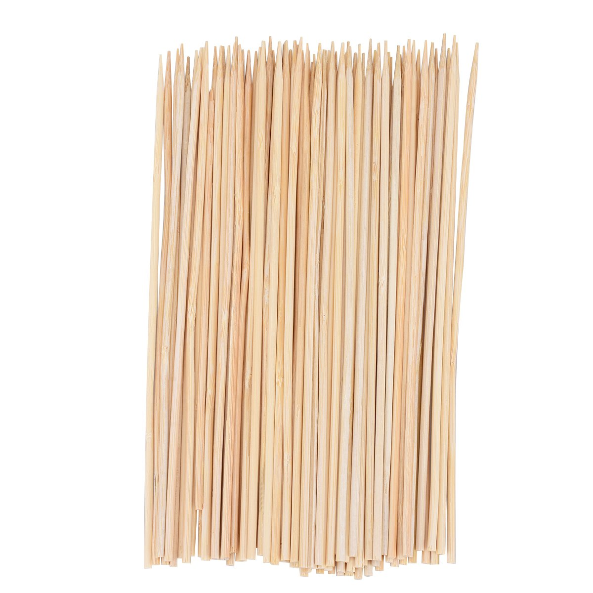 Bamboo Skewers Sticks 8 Inches 3mm Thick for BBQ, Apetizers, Grilling, or Fondue, TankerStreet BBQ Skewers Veggie Fruit Sticks,Wooden Dowels for Craft, About 100 Pieces Pack