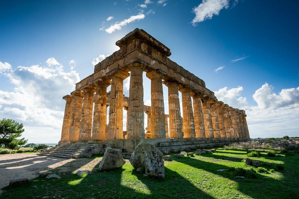Amazon Com Acropolis Of Selinunte Sicily Italy Photo Photograph Cool Wall Decor Art Print Poster 18x12 Posters Prints
