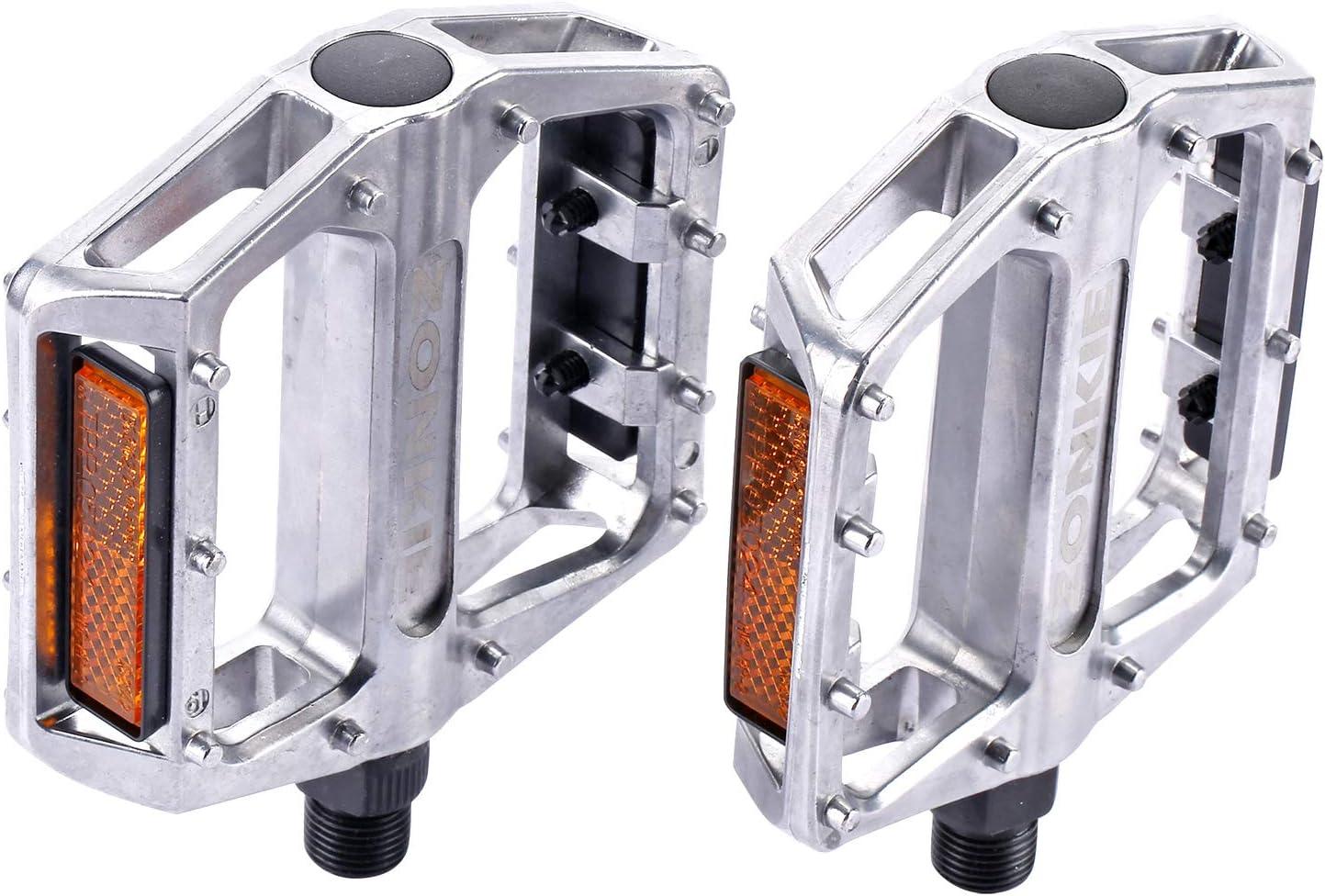 bicicletas de monta/ña pedales de aleaci/ón de aluminio plataforma rodamientos sellados eje 9//16 ZONKIE Bicicleta pedales
