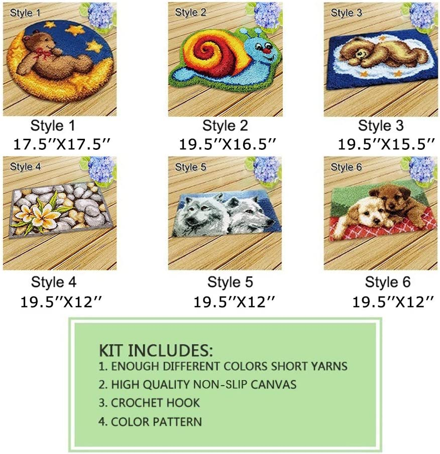 Amazon.com: MLADEN - Kit de hilo de ganchillo para ...